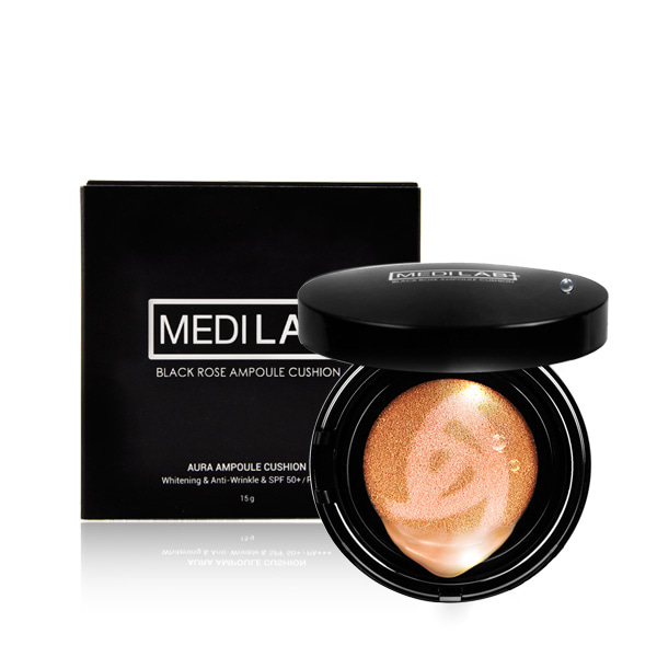 [DAYCELL] MEDI LAB Black Rose Ampoule Cushion 15g, SPF50+/PA+++