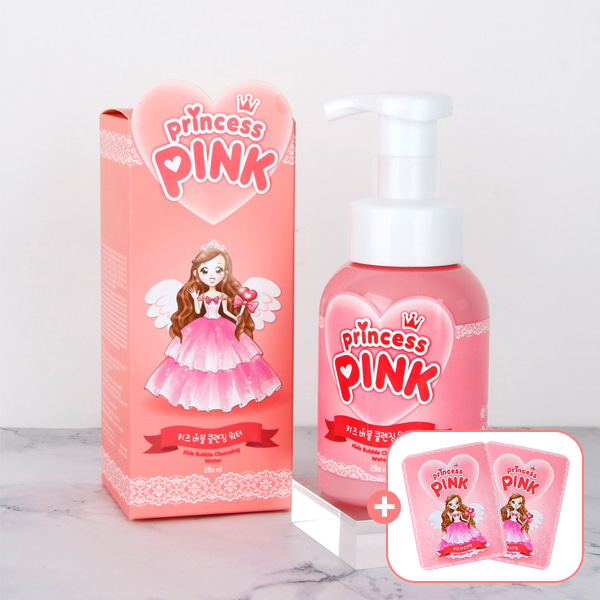 [DAYCELL] Princess Pink's Kids Bubble Cleansing Water 280ml, Coronavirus Prevention