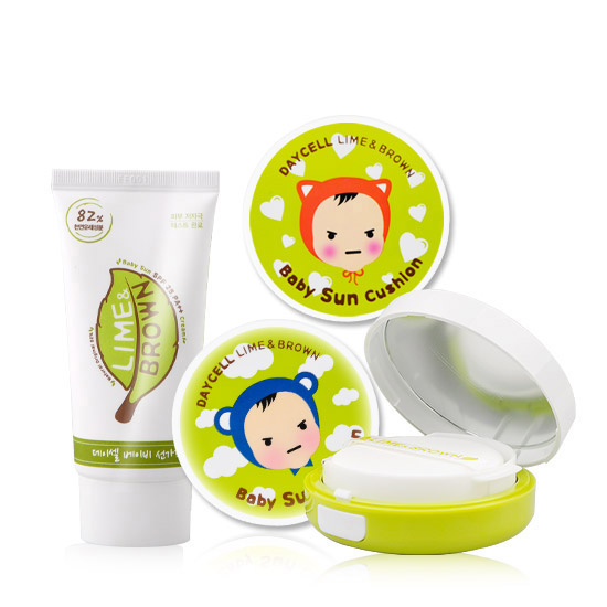 [DAYCELL] LIME & BROWN Baby Sunscreen Cushion D.I.Y 50ml, SPF25/PA++