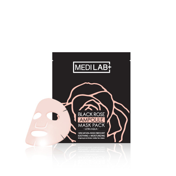 [DAYCELL] MEDI LAB Black Rose Ampoule Mask Pack (Ultra Aqua) 25g