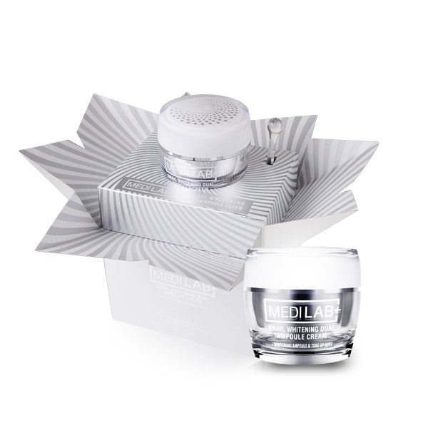 ★EXP: 11 NOV 2019★[DAYCELL] MEDI LAB Snail Whitening Dual Ampoule Cream 50ml