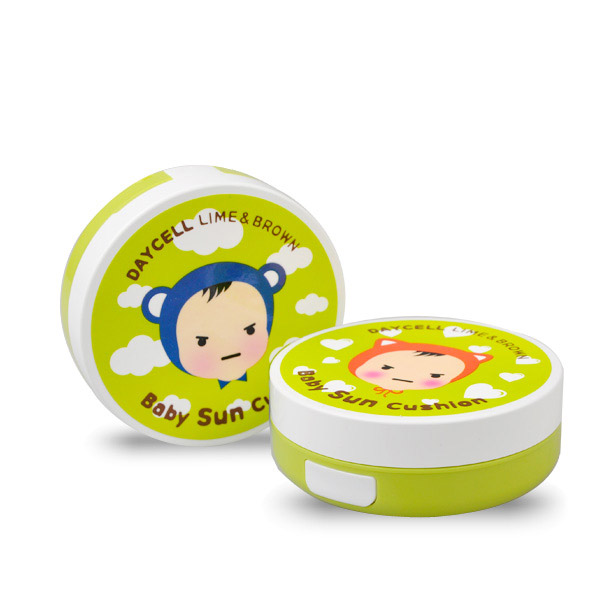 [DAYCELL]Lime&Brown Baby Sun Cushion D.I.Y Case 50ml - For Boys or Girls