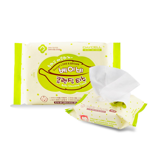 [DAYCELL] Lime&Brown baby Cleansing Tissue 30 sheets
