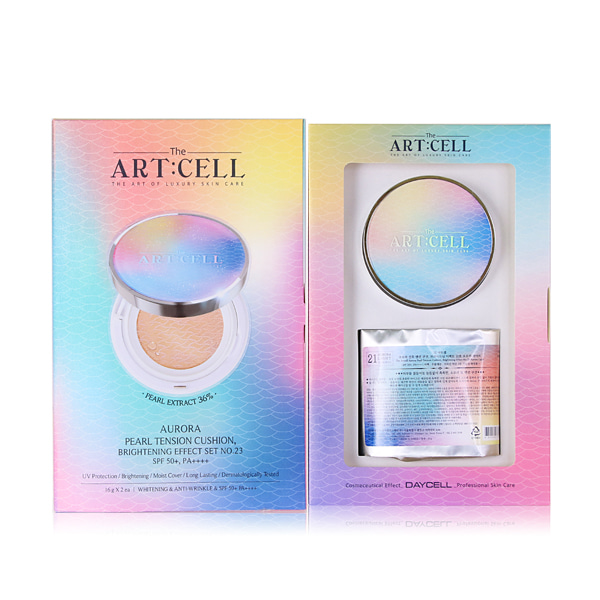 [DAYCELL] The Artcell Aurora Pearl Tension Cushion, Brightening effect SET