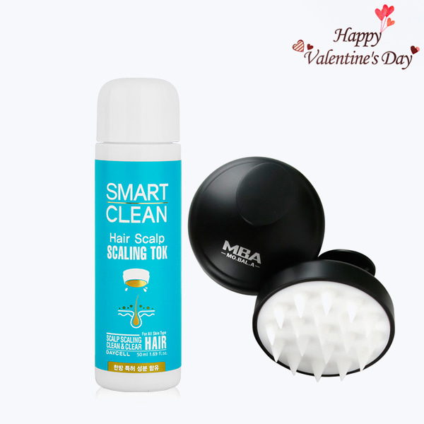 Valentine's Day Sale[DAYCELL] Smart Clean Hair Scalp Scaling Tok 50ml + MBA MoBalA Derma Scalp Scaling Massage Brush