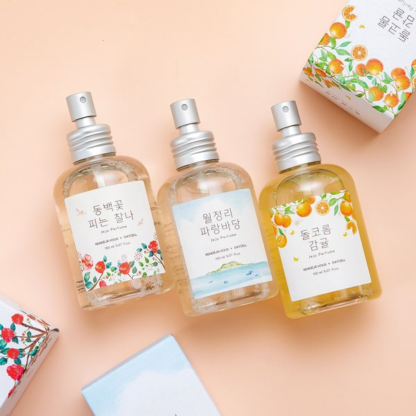 ★Fall Greeting Event★ [DAYCELL] Small Jeju Body Perfume Mist by my side 150ml - 3 types