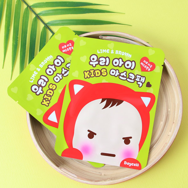 [DAYCELL] LIME & BROWN Baby & Kids Mask Pack 15g