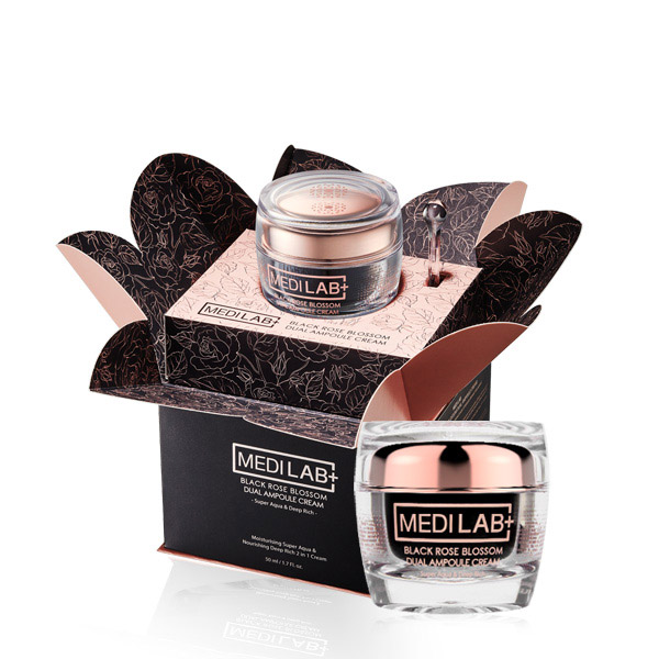 [DAYCELL] MEDI LAB Black Rose Blossom Dual Ampoule Cream 50ml